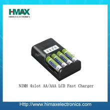 LED Smart 4 slot AA/AAA NiMH Battery Charger 4.8v nimh battery charger