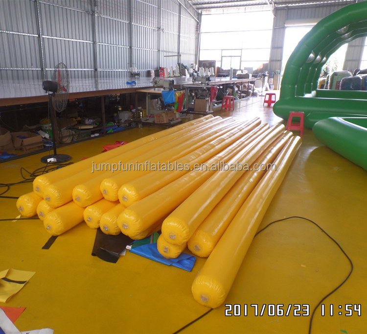 Inflatable swim buoy 4.5meter long Floating inflatable tubes for water park