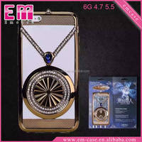 Rhinestone Plastic Hard Case For iPhone 6/6s Electroplate Luxury Case For iPhone6/6s plus
