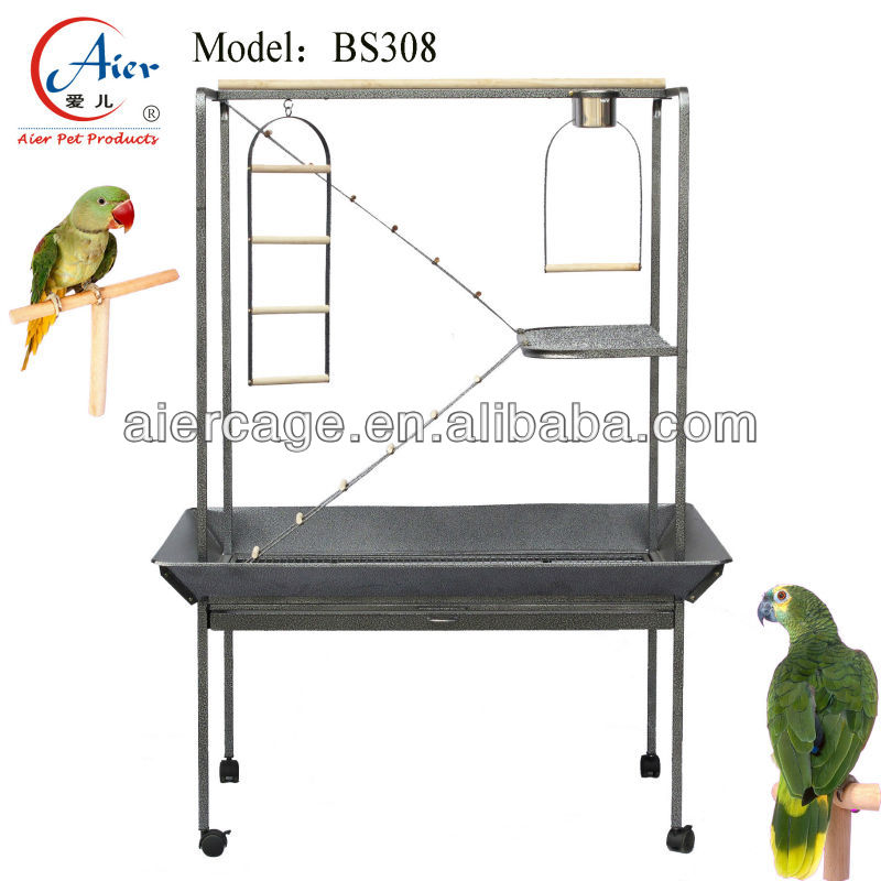 pet product large metal parrot play stand