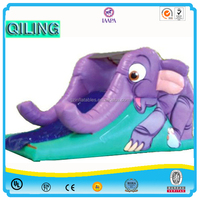 2016 QiLing New design hot sale funny kids Inflatable elephant Slide