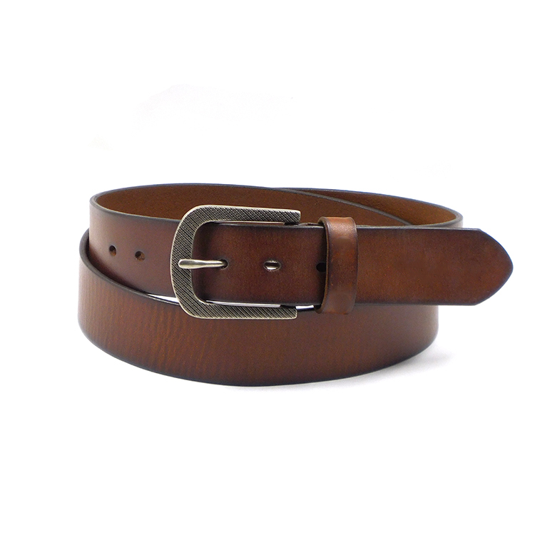 FM brand wholesale pin buckle brown men's style belt genuine leather belt fashion belts for mens