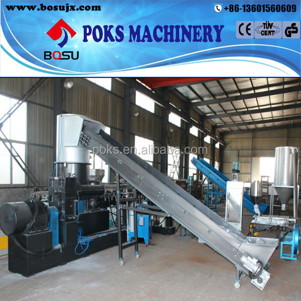 high output pp pe film plastic recycling granulating machine