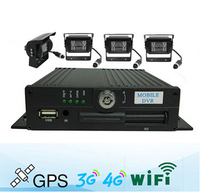 DTY 4ch cctv dvr kit ,3g wifi gps dvr / mdvr wih 2 sd card car kit sowze