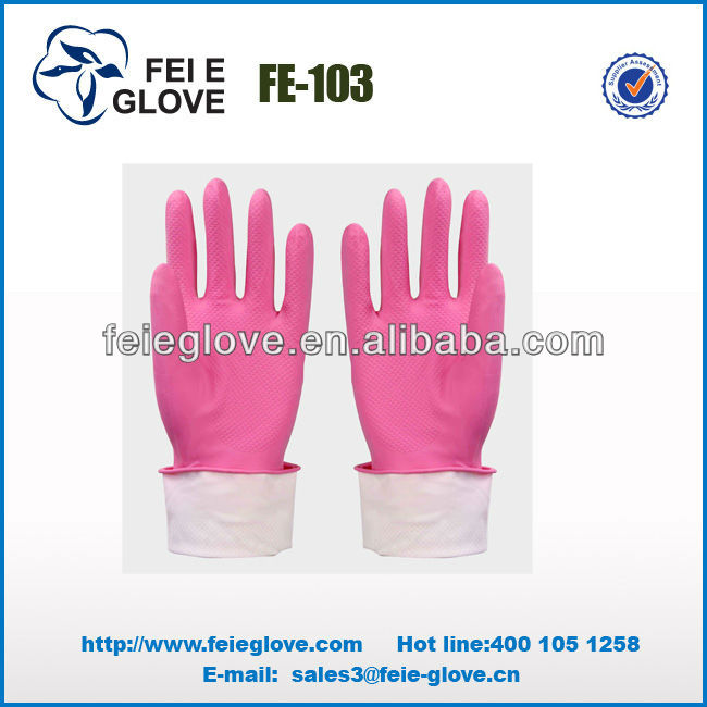 12 inch cotton lined sexy latex gloves