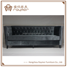 Luxury Velvet Tufted Back Chesterfield Down Feather Sofa