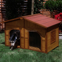 Wholesale double dog kennel outdoor large wooden dog house home & garden waterproof