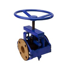 Chinese foundries low pressure cast iron flanged pinch valve