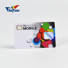2017 New come global straight talk pvc plastic phone card with foil stamp