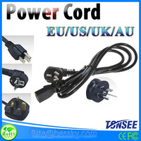 2 pin european standard ac power cord,3 pin American AU standard power Extension Cords
