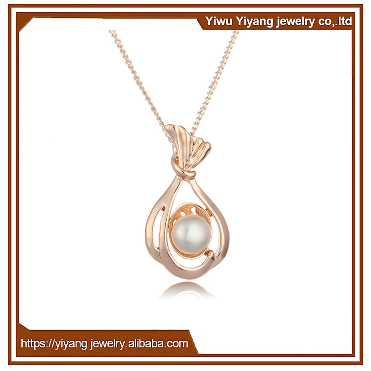 Manufacturer Wholesale Single Pearl Hong kong Jewelry Natura Necklace