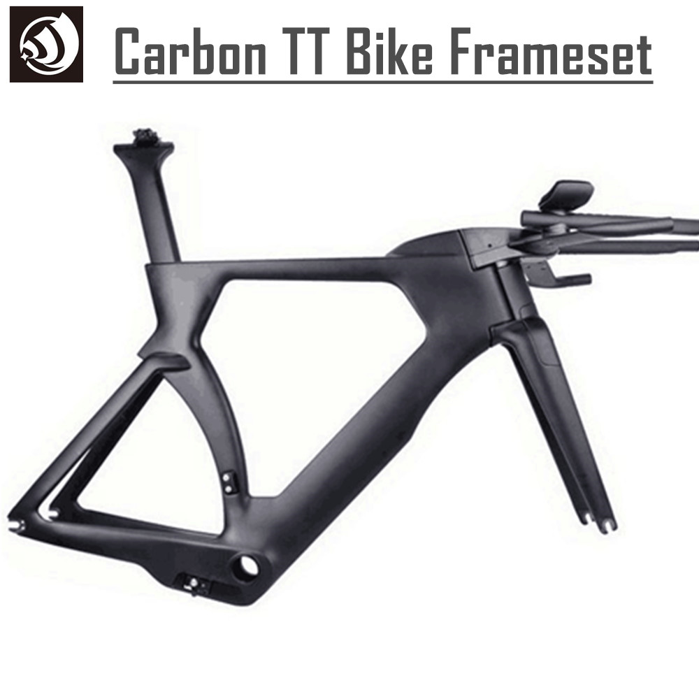 Winow 2017 hot selling Toray T800 wholesale carbon TT bike frame, time trial carbon triathlon bicycle frame