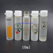 10ml custom syrup glass bottle with 10ml medical glass jar with cap