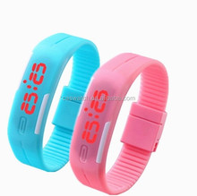 2016 hot sale LED bangle watch cheap eco-friendly silicone touch-screen digital watch