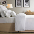 New Simple Design Polyester Fabric Pure White Custom Hotel Collection Bedding