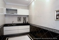 800x800 soluble salt tile, glossy polished floor tiles, black and white porcelain tile