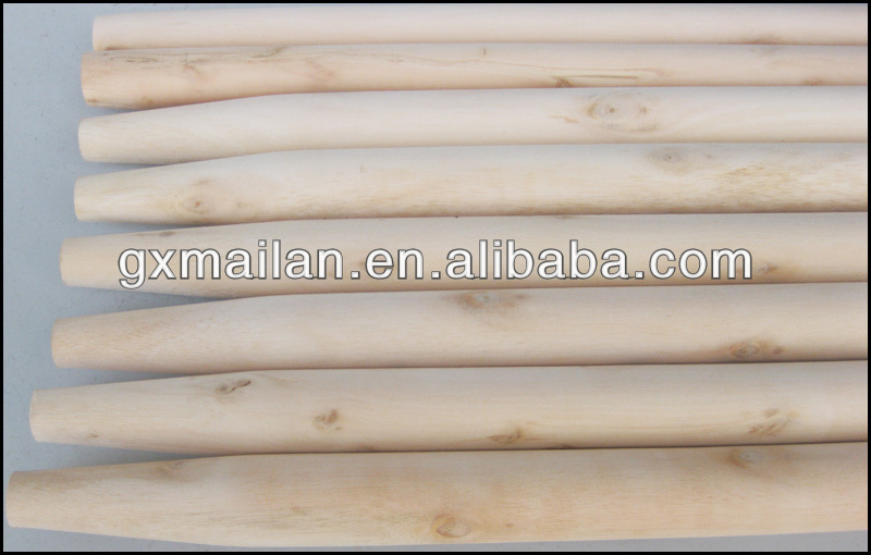 well straight natural wooden broomstick with good quality