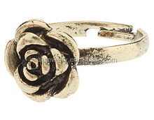Top Sell Summer Oxidized Gold Rose Ring