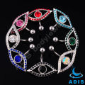 stainless steel cz stone eye design belly ring piercing body jewelry
