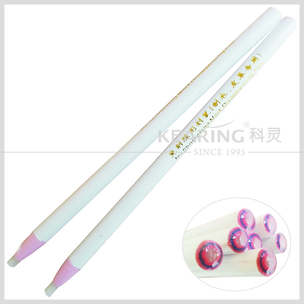 China Kearing brand manufacture No sharpening disappearing pencil grease white ink hor iron pen for leather marking#SDP170