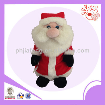 plush santa claus toys,christmas candy bag