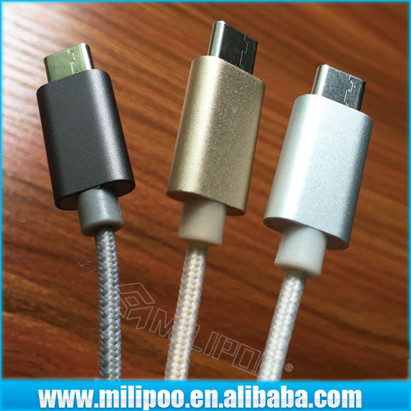 USB Type C Cable, Reversible Design USB 3.1 Type-c Male Connector to Standard Type a Male Data Cable Super Speed Sync