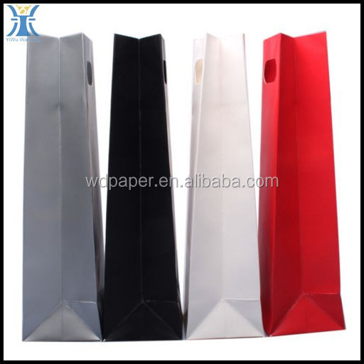 Yiwu 2015 New Arrived Custom Paper Wedding Gift Bags Wine Bottles Assorted Colors Shopping Bag