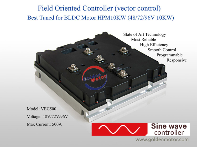Sine Wave Vector BLDC foc Controller for high power motors 3KW-20KW