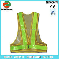 High Class safety reflective vest with Electro Luminesence Refective Tape