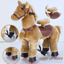 Mechanical walking horse Toys/Plush Ride On Animal Toy lovely horse pony