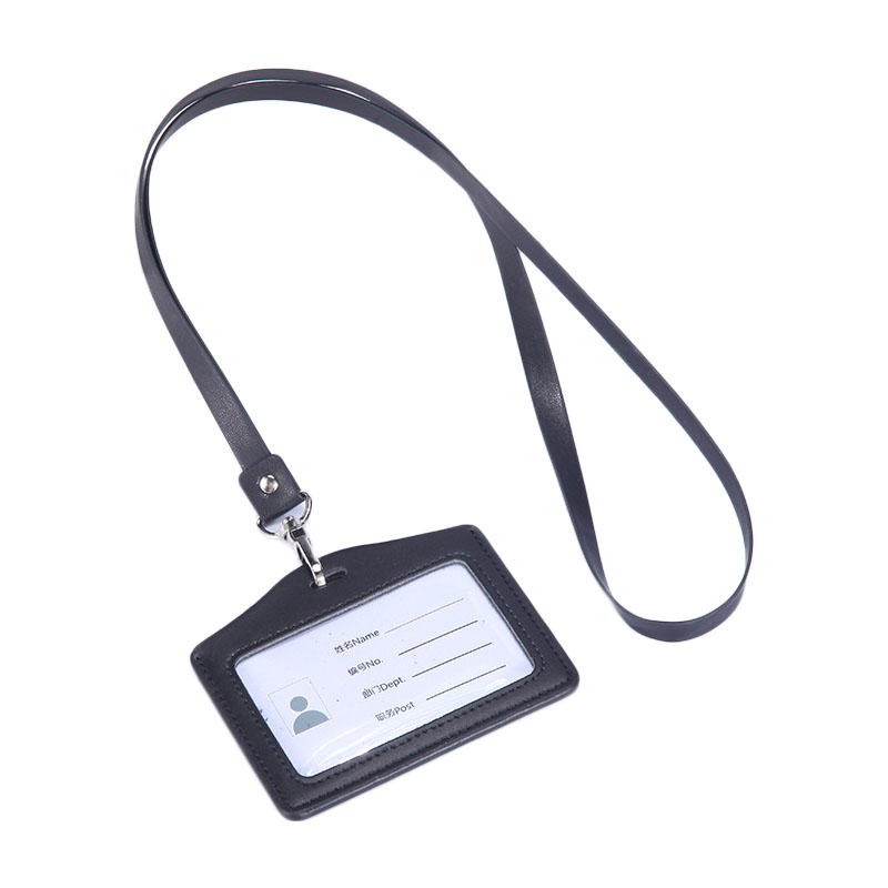 Wholesale Custom Employee Double Id Holder,Horizontal Acrylic Cute School Id Card Holder With Metal Clip