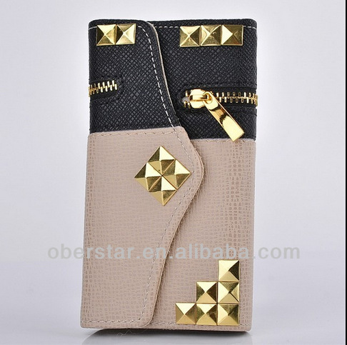 Flip Zipper Wallet PU Leather Case Cover For Samsung Galaxy Note3 N9000