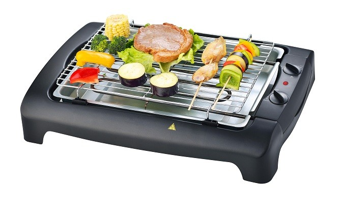 Sans fumée barbecue grill pour intérieur, pas de fumée électrique barbecue grillades