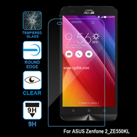 Tempered glass screen protector for ASUS zenfone 2_laser_ze550KL, made by 0.3mm glass, 9H,with retail package