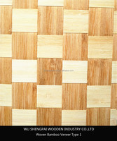 china high quality keruing woven natural bamboo wood veneer for decorative wall longboard and skateboards