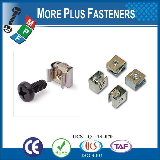 Taiwan Stainless Steel 18-8 Copper Brass Aluminum Brass M6 Cage Nut Square Nuts Stainless Steel Cage Nut