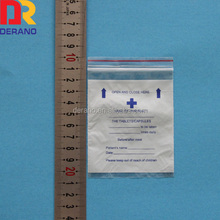 70 x 100mm ldpe printed pill bags for pharmacy