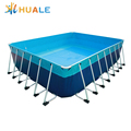 Home used above ground removable swimming pool detachable metal frame pool for sale