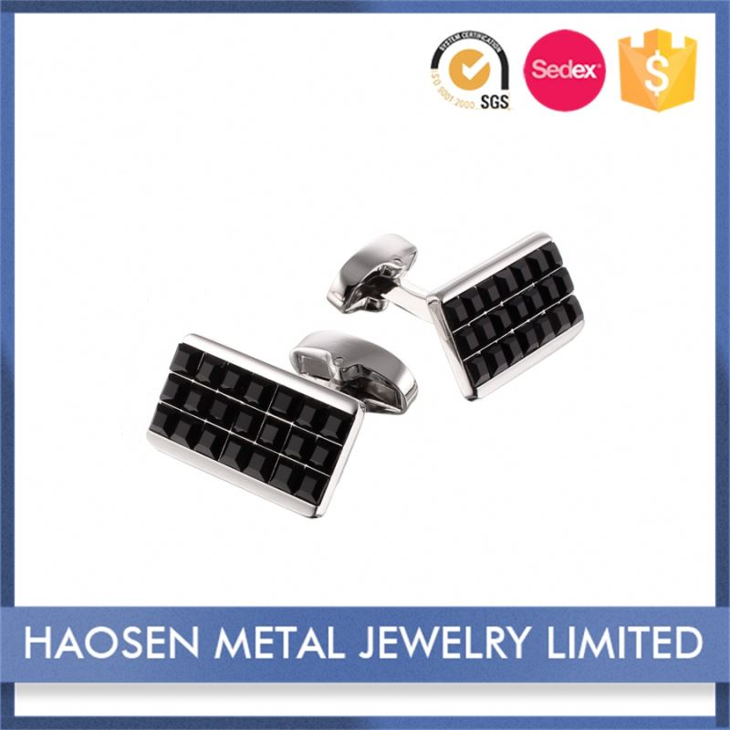 Highest Level Nice Design Cheapest Price Wholesale Sterling Silver Crystal Cufflinks