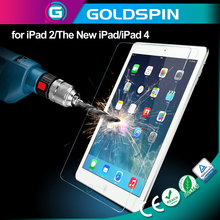 Low Price! 9H 2.5D Tempered Glass Screen Protector for Ipad 2/The New Ipad/Ipad 4