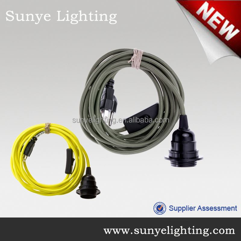 High quality electrical wire with switch and plug headphone jack anti dust plug
