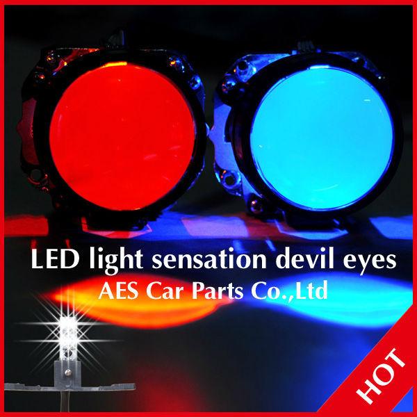 2013 Good Sale LED demon eyes headlights, LED red devil eye for car bixenon projector