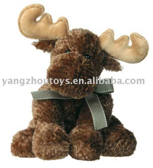 new design plush dark brown reindeer toy the rider of Santa