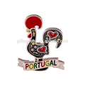 Custom Kitchen Fridge Magnet Portugal Souvenir 3D Metal Cock Rooster Replica Magnet Metal Enamel Strong Refrigerator Magnet