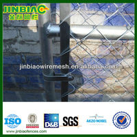 Galvanized chain link fence poles