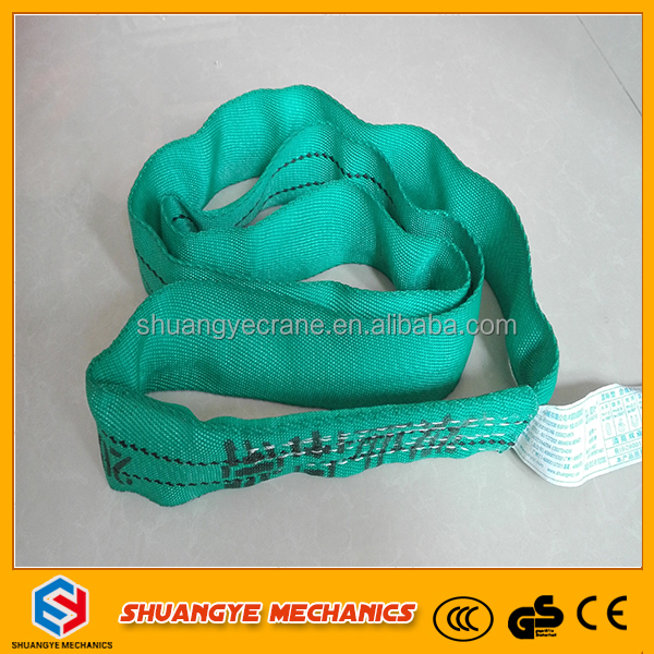 Hebei Hot Sale CE/GS Approved 2 ton Polyester round Webbing Soft Lifting Slings