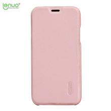 Lenuo soft PU leather flip cover for iphone X mobile phone case