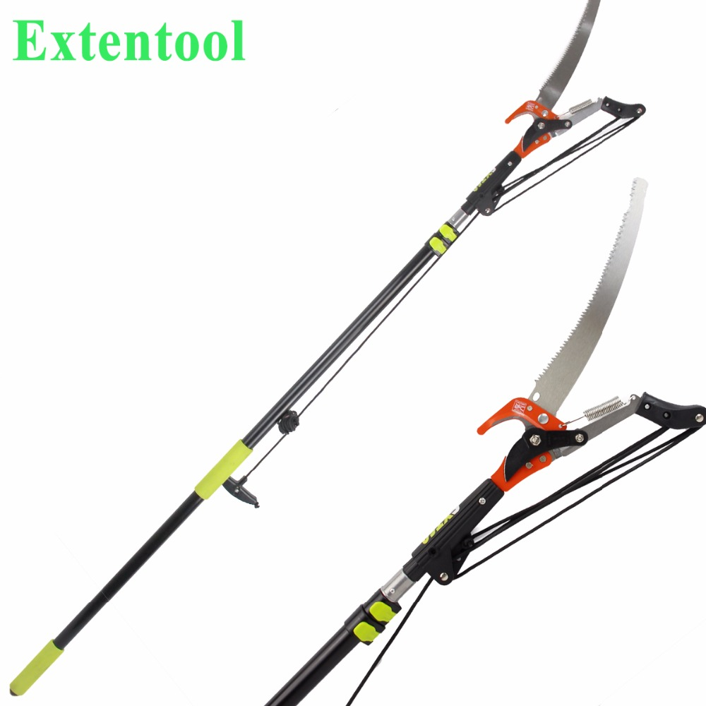 China supplier long handle telescopic tree pruner reach pruner for lopping shears in garden tools