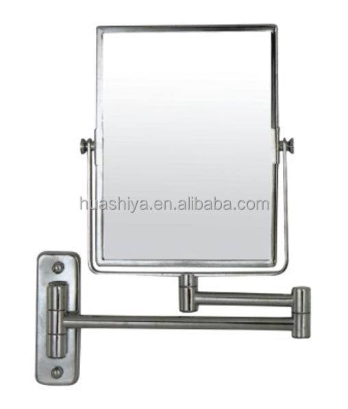 HSY-1726 wall mounted flexible swivel square makeup mirror