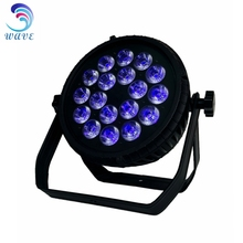 New product 18PCS 6 IN 1 Rgbwa Concert Stage Lighting Led Flat Par